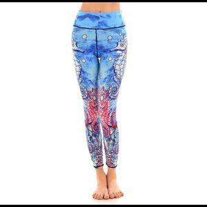 Lotus Leggings Pants - Lotus Leggings Seahorse
